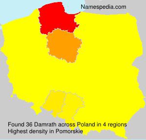 Surname Damrath in Poland