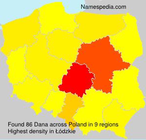 Surname Dana in Poland