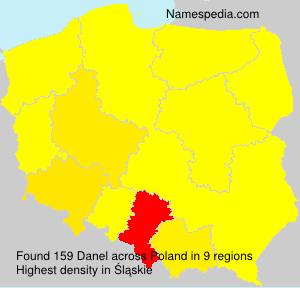 Surname Danel in Poland