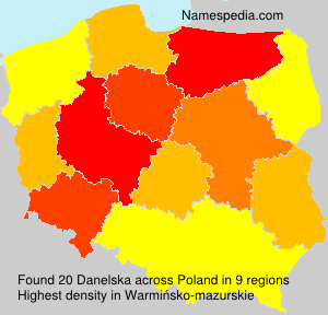 Surname Danelska in Poland
