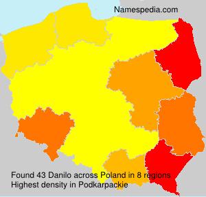 Surname Danilo in Poland