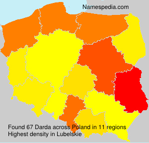 Surname Darda in Poland