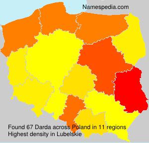 Familiennamen Darda - Poland