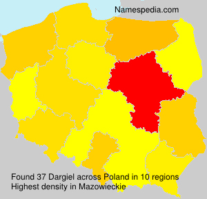 Surname Dargiel in Poland