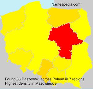 Familiennamen Daszewski - Poland