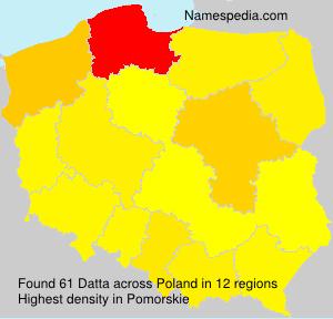 Surname Datta in Poland