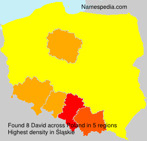 Surname David in Poland
