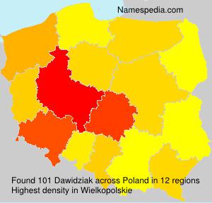 Surname Dawidziak in Poland
