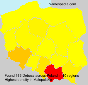 Surname Debosz in Poland