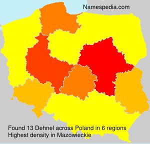 Surname Dehnel in Poland