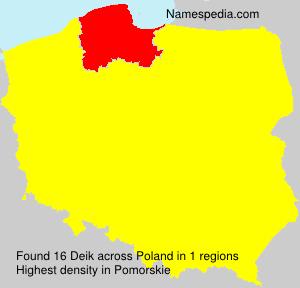 Familiennamen Deik - Poland
