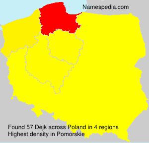 Surname Dejk in Poland