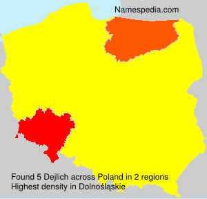 Surname Dejlich in Poland