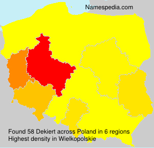Surname Dekiert in Poland