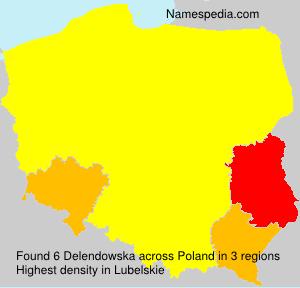 Surname Delendowska in Poland