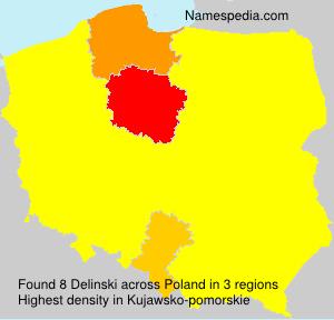 Surname Delinski in Poland