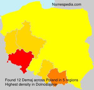 Surname Demaj in Poland