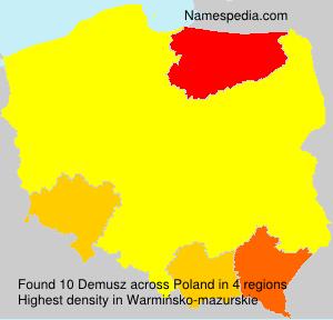 Familiennamen Demusz - Poland