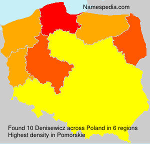 Surname Denisewicz in Poland