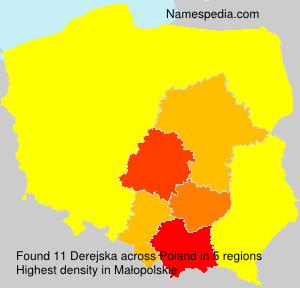 Surname Derejska in Poland