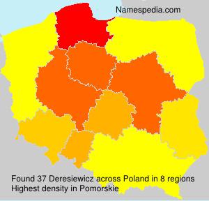 Familiennamen Deresiewicz - Poland