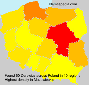 Surname Derewicz in Poland