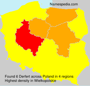 Surname Derfert in Poland