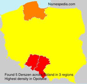 Surname Derszen in Poland