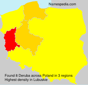 Surname Deruba in Poland