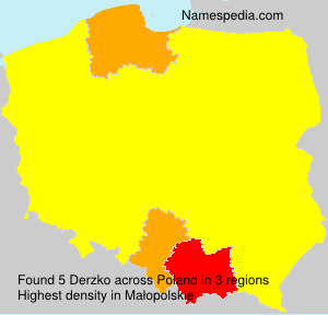 Familiennamen Derzko - Poland
