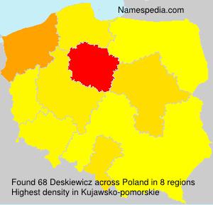 Surname Deskiewicz in Poland