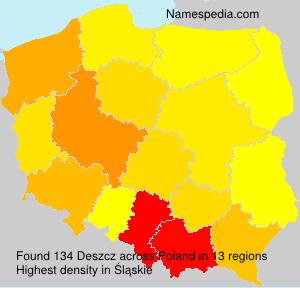 Familiennamen Deszcz - Poland