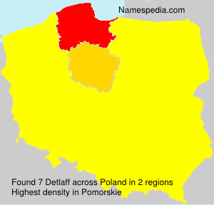 Surname Detlaff in Poland