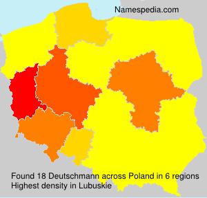 Surname Deutschmann in Poland