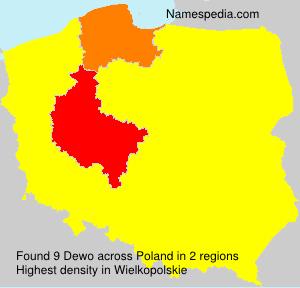 Surname Dewo in Poland