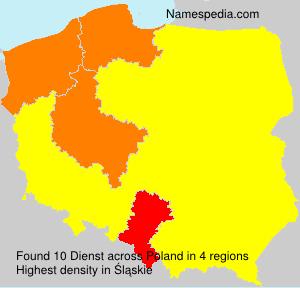 Surname Dienst in Poland