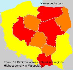Familiennamen Dimitrow - Poland