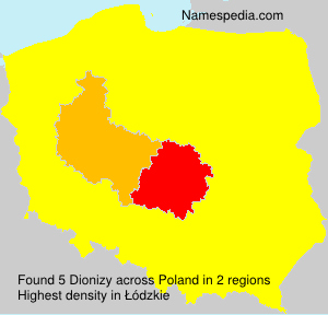 Surname Dionizy in Poland