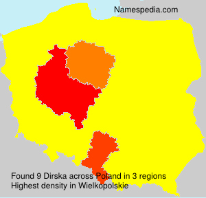 Surname Dirska in Poland