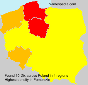 Surname Dix in Poland