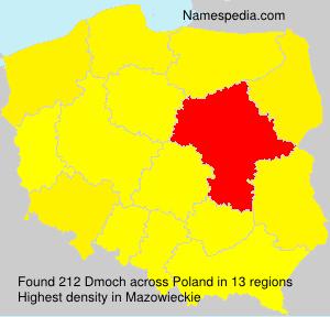 Familiennamen Dmoch - Poland
