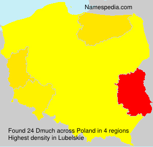 Surname Dmuch in Poland