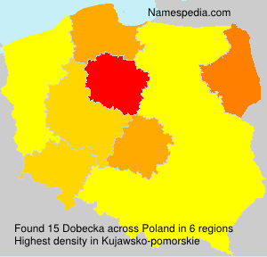 Surname Dobecka in Poland