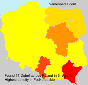 Surname Dobel in Poland