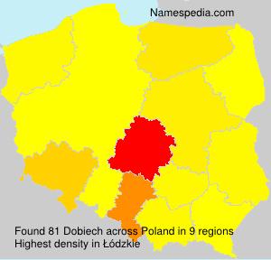 Surname Dobiech in Poland