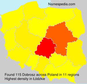Surname Dobrosz in Poland