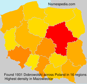 Surname Dobrowolski in Poland