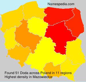Surname Doda in Poland