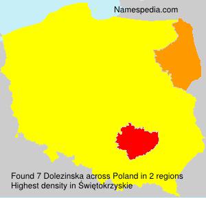 Surname Dolezinska in Poland
