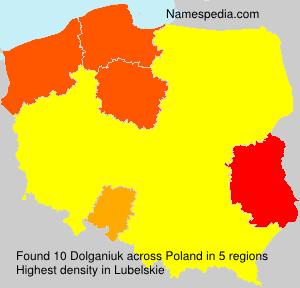 Surname Dolganiuk in Poland